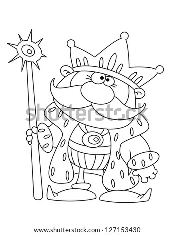 illustration of a king outlined - stock vector