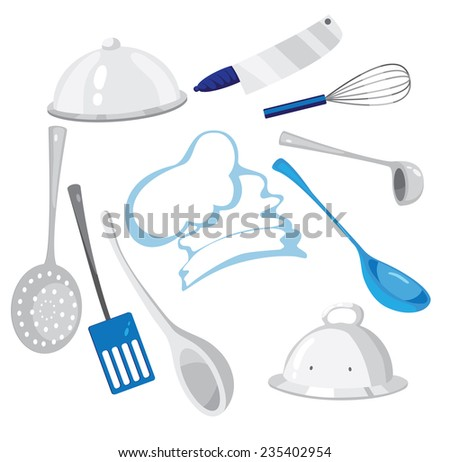 illustration of a kitchenware - stock vector