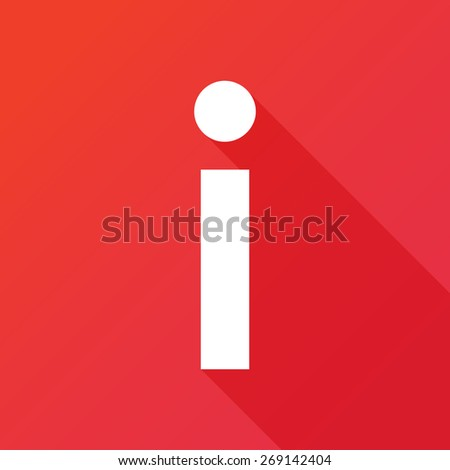 Illustration of a Letter with a Long Shadow - Letter I. - stock vector