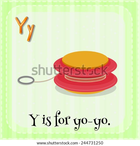 Illustration of a letter y is for yo-yo - stock vector