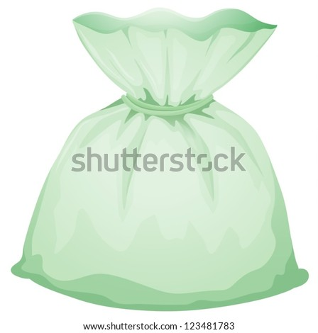 Illustration of a light green pouch on a white background