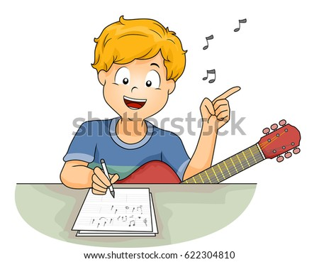 https://thumb1.shutterstock.com/display_pic_with_logo/437/622304810/stock-vector-illustration-of-a-little-boy-with-a-guitar-writing-the-lyrics-of-a-song-while-humming-a-tune-622304810.jpg