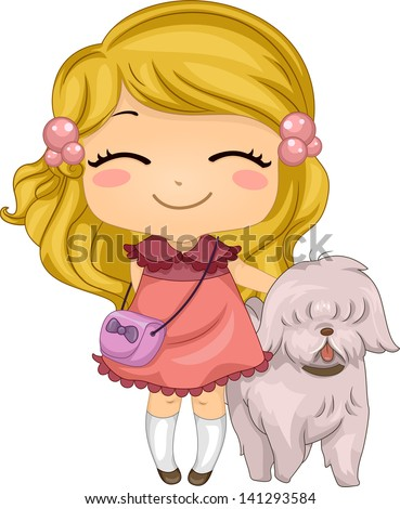 Cute cartoon girl Stock Photos, Images, & Pictures ...