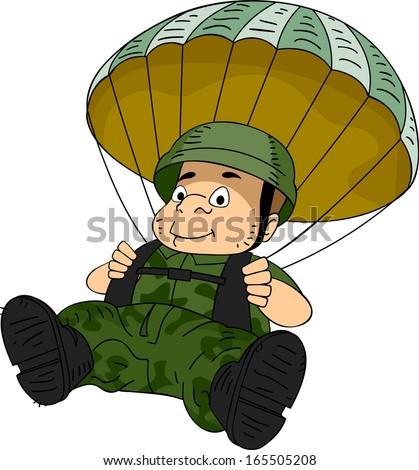 Paratrooper stock photos images pictures shutterstock - Dessin parachutiste ...