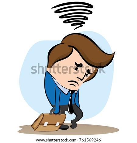 illustration mascot manager executive sad depressed stock vector rh shutterstock com executive director clipart executive meeting clip art