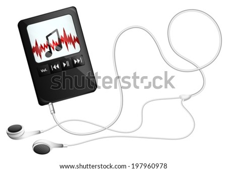 Illustration of a musical gadget on a white background - stock vector