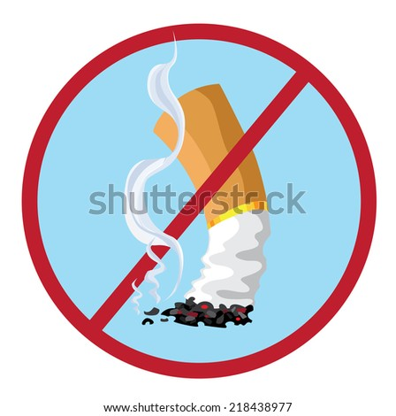 illustration of a no smoking