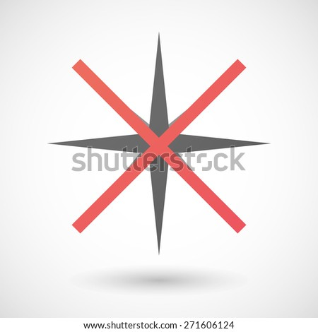 Illustration of a not allowed icon with a sparkle