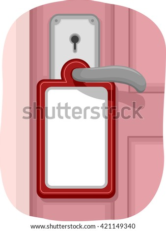Illustration of a Note Hanging from the Door Knob
