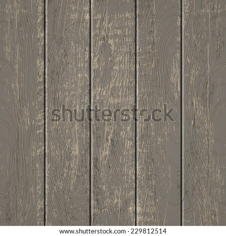 Illustration of a old wooden background - stock vector