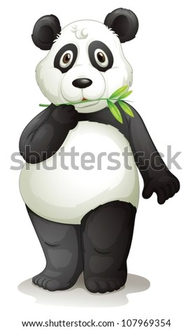 illustration of a panda on a white background - stock vector