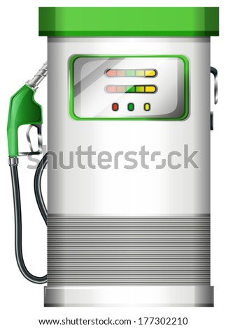 Illustration of a petrol pump on a white background - stock vector