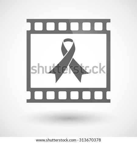Illustration of a photographic film icon with an awareness ribbon - stock vector