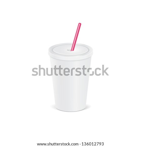 illustration of a plastic cup for beverages