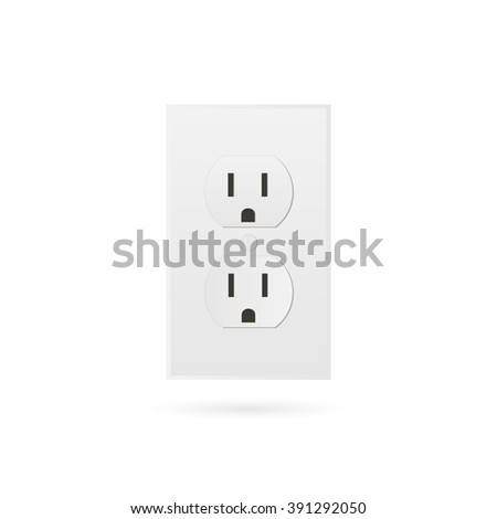 Illustration of a power outlet isolated on a transparent background. - stock vector