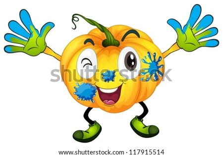 illustration of a pumpkin on a white background