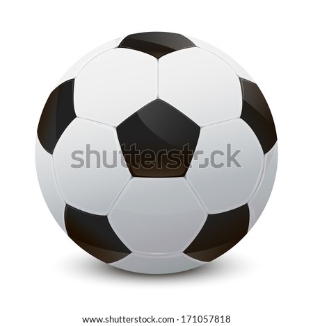 Illustration of a realistic soccer ball - stock vector
