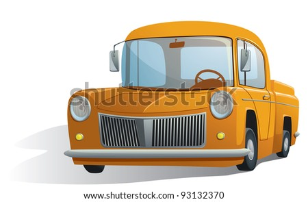 illustration of a retro car - stock vector