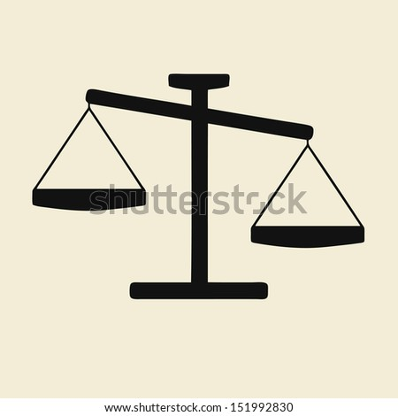 Illustration of a scales icon - stock vector