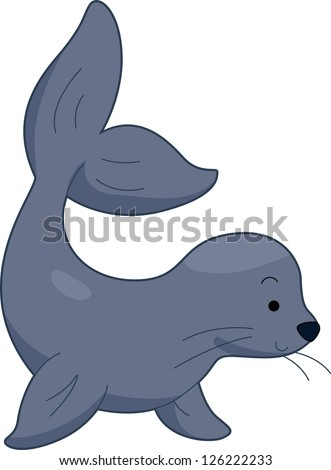 illustration sea lion stock vector 2018 126222233 shutterstock rh shutterstock com cartoon sea lion cartoon sea lion