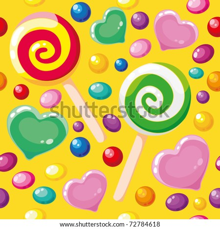 illustration of a seamless pattern cute candies