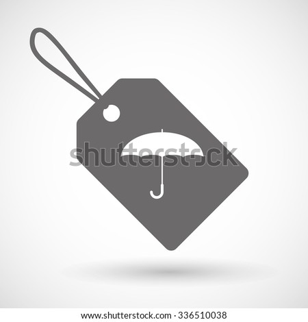 Illustration of a shopping label icon with a dart board - stock vector