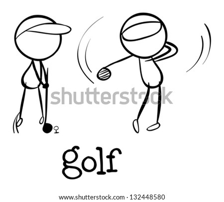Illustration of a simple sporting figure - stock vector