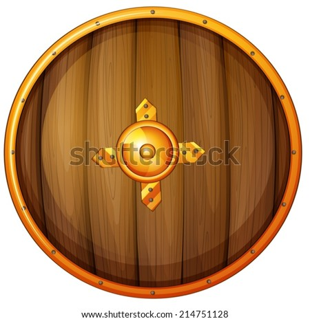 Illustration of a single shield - stock vector