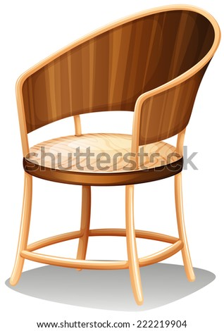Illustration of a smooth brown furniture on a white background