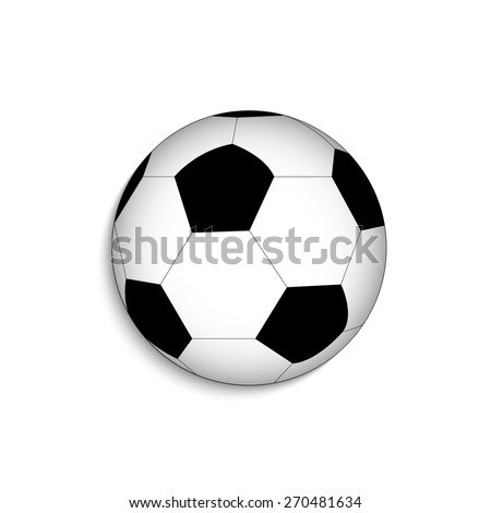 Illustration of a soccer ball isolated on a white background. - stock vector