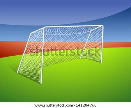 Illustration of a soccer goal - stock vector