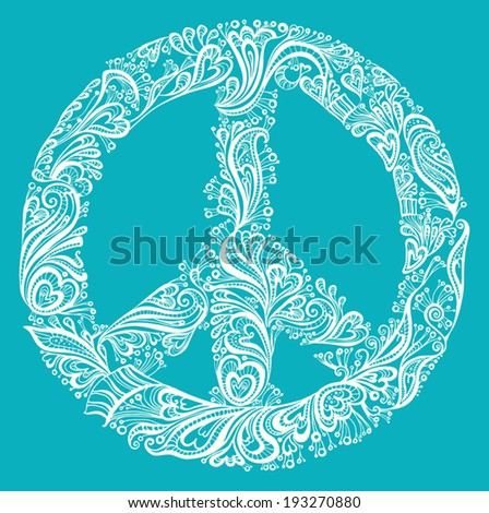 Illustration of a symbol of peace. - stock vector