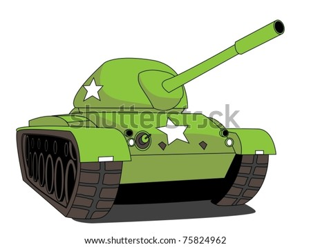 Illustration of a Tank - stock vector