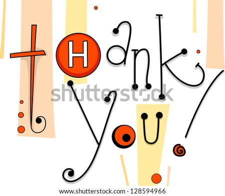 Illustration of a Thank You Card with Button Designs