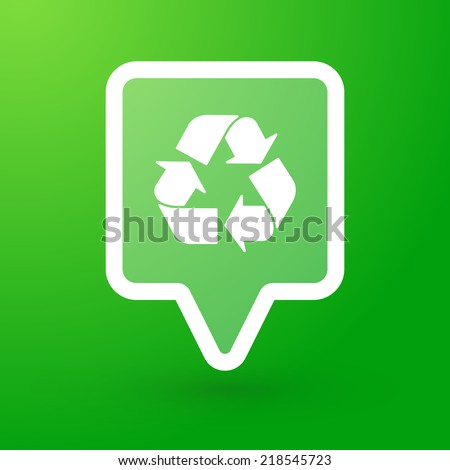 Illustration of a tooltip with a recycle sign