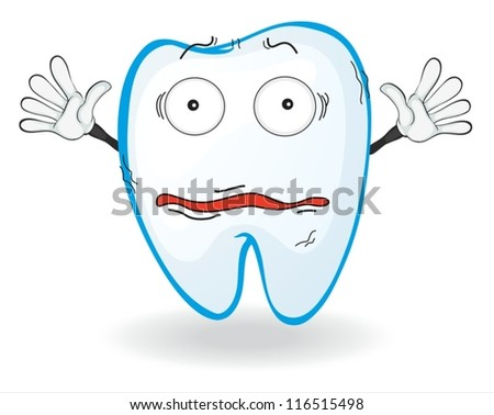 illustration of a tooth on a white background