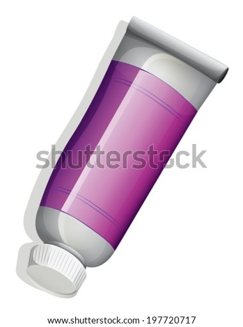 Illustration of a topview of a violet tube on a white background