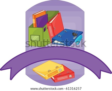 illustration of a various items on a white background