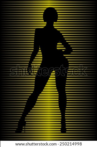 Illustration of a woman silhouette