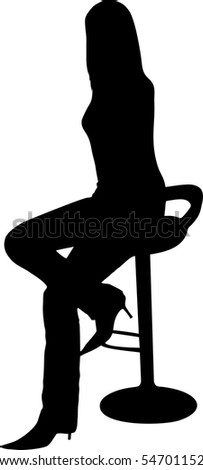 illustration of a women sit on the chair
