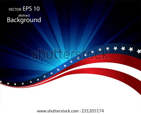 Illustration of abstract American background  - stock vector