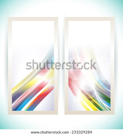 Illustration of abstract background design banner - stock vector