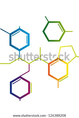 Illustration of Abstract Chemical formula - stock vector
