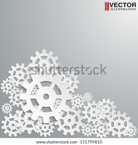 illustration of abstract design with in cog wheel and copy space. Vector, EPS10, editable and isolated. - stock vector