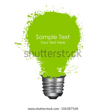illustration of abstract grungy bulb isolated on white - stock vector