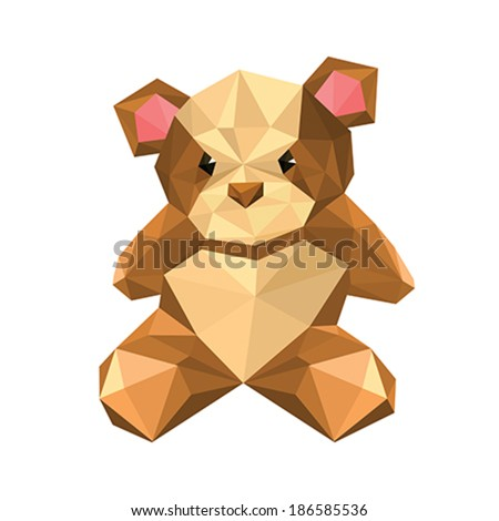 Illustration Of Abstract Origami Teddy Bear