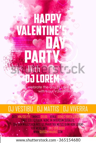 illustration of abstract Valentine's Day Background for party banner - stock vector