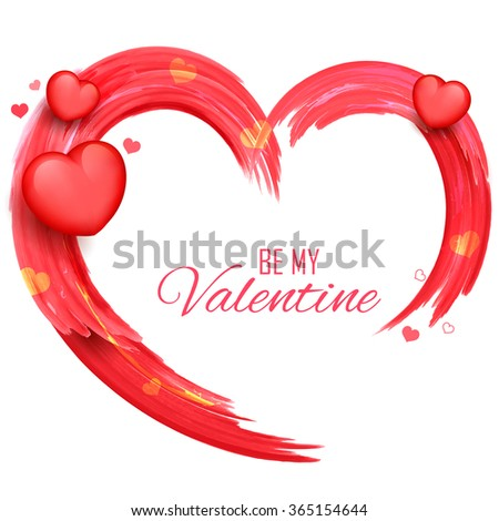 illustration of abstract Valentine's Day Background saying Be my Valentine - stock vector