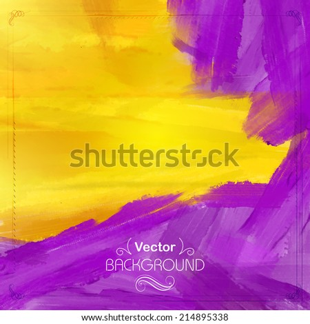 illustration of abstract watercolor background in vector - stock vector