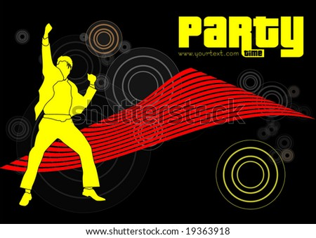 illustration of active man - stock vector